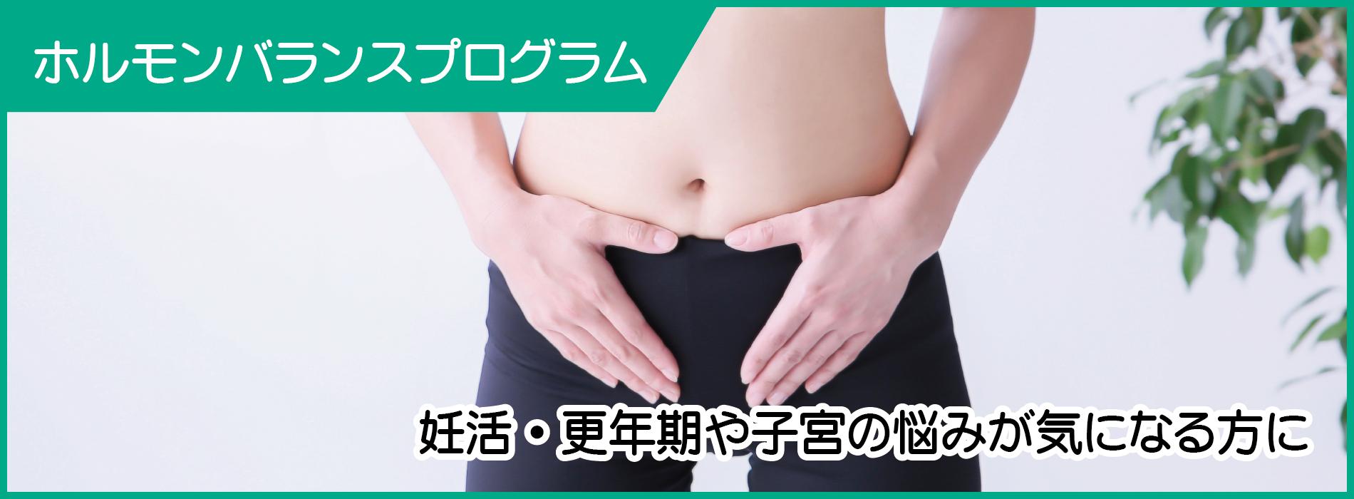 ホルモンバランスプログラム/妊活・更年期や子宮の悩みが気になる方に
